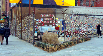9/11 Memorial at Greenwich Ave and 7th Ave South