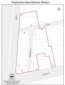 Weehawken Street Historic District map