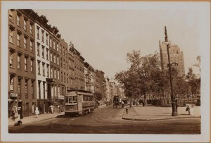 A 1934 Image of East 10th Street looking east from Avenue A with the Chrisadora in the background. (Image via NYPL)