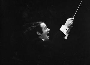 David Amram guest conducting the Houston Symphony, 1968.