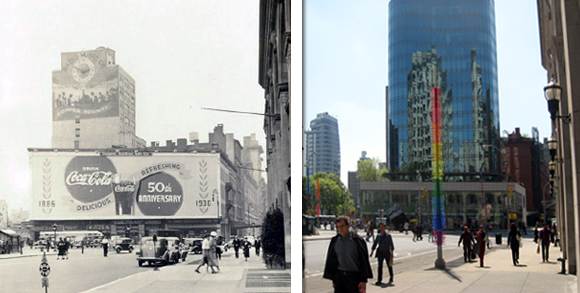 Astor Place Then and Now