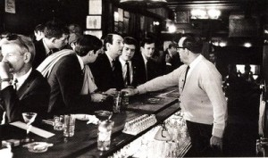 Gay activists are denied service at a 1966 Sip In at Julius'.
