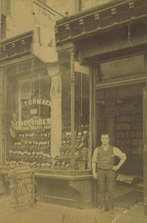 Joseph Yormark's store J. Yormark Fine Shoes was located at 68 Clinton Street.