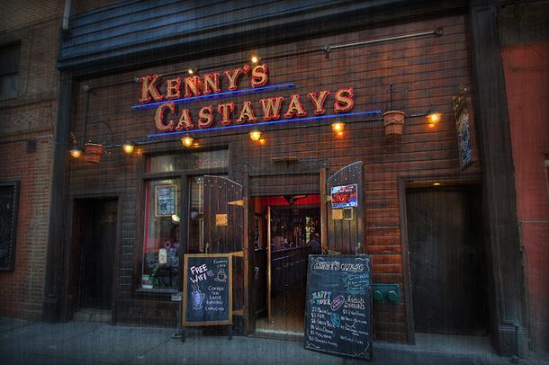 The exterior of Kenny's Castaways at 157 Bleecker Street.