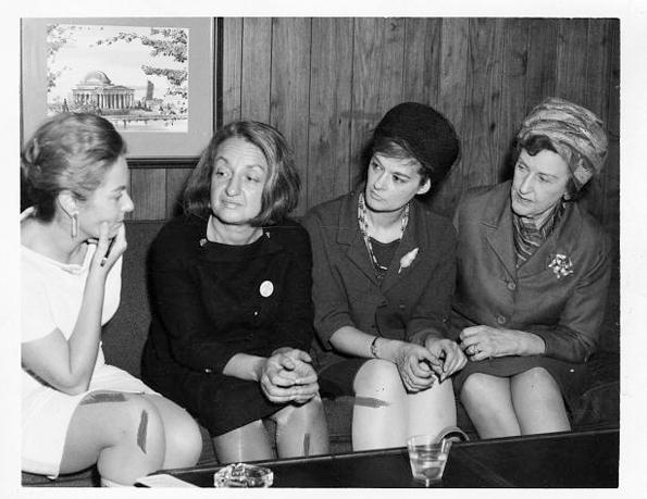 Betty Friedan (second from left) in 1968.