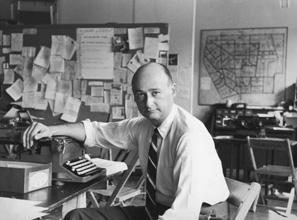 Koch in 1963, as Village Democratic District leader
