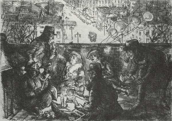 """Arch Conspirators"" by John Sloan. Courtesy of NYU's Bobst Library."