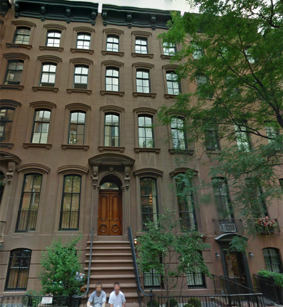 Joan Holloway's apartment at 42 West 11th Street (the one with the red door at the basement level). Google Maps Street View.