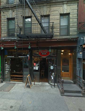 The storefront at 114 MacDougal Street today. Image via Google Maps.