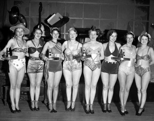 Nut Club hostesses in 1932.