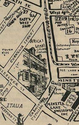 This area of the Village changed significantly beginning in 1925 as 6th Avenue was extended south.
