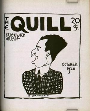 A 1920 cover image of the Quill magazine. Image via the Harry Ransom Center.