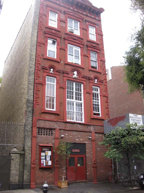 La Mama's main building at 74A East 4th Street. Photo courtesy of the La MaMa Archive / Ellen Stewart Private Collection.