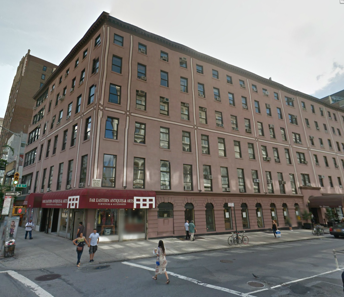 A view of the hotel today. Source: Google maps.