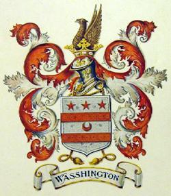A representation of the Washington coat of arms.