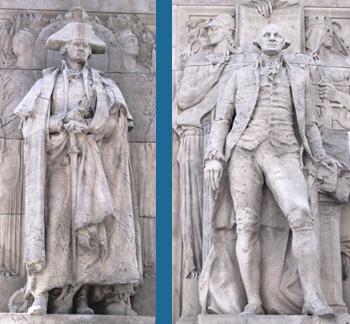 Washington At War (l.); Washington At Peace (r.)