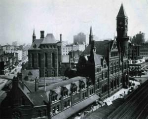 The original Jefferson Market Courthouse and prison complex