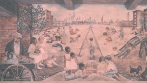 WPA Mural from Greenwich Village's Women's House of Detention (demolished 1974)