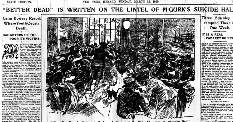Article talking about McGurk's.  Image courtest of the NY Herald, March 12, 1899.