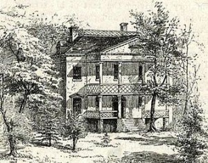 A sketch of the Richmond Hill Mansion, published in 1847