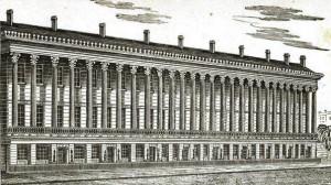 The original nine buildings. Image via NYPL