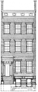 132 West 4th Street (1836-39) HABS drawing