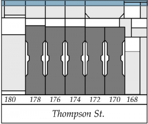 Plan of dumbbell tenements at 170-178 Thompson Street