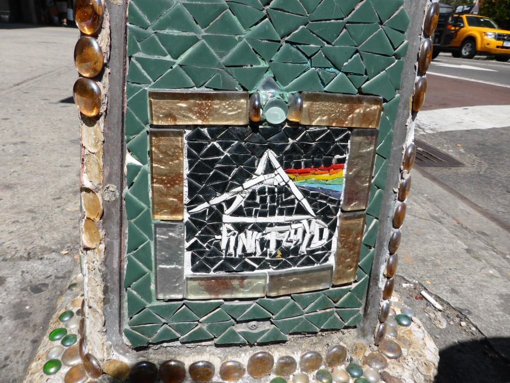 Fillmore East Mosaic. The Dark Side of the Moon Album cover appears within this mosaic, attesting not only to the impact of this iconic album, but also the connections the band has to this legendary venue. Image courtesy of according2g.com.