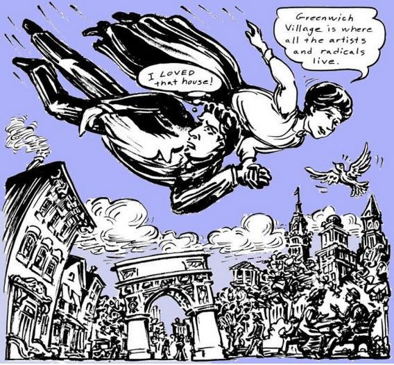A page from a recent graphic novel celebrating Sanger's achievements.