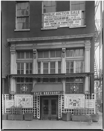 The Brevoort hotel's beloved cafe. From the collections of the Museum of the City of New York.
