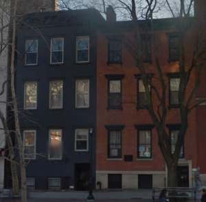 198 & 200 Avenue of the Americas, two row houses built c. 1831 in the Greek Revival style