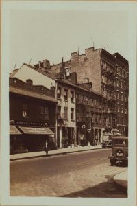Spring Street between Sullivan and Thompson Streets, 1933. Courtesy of NYPL.