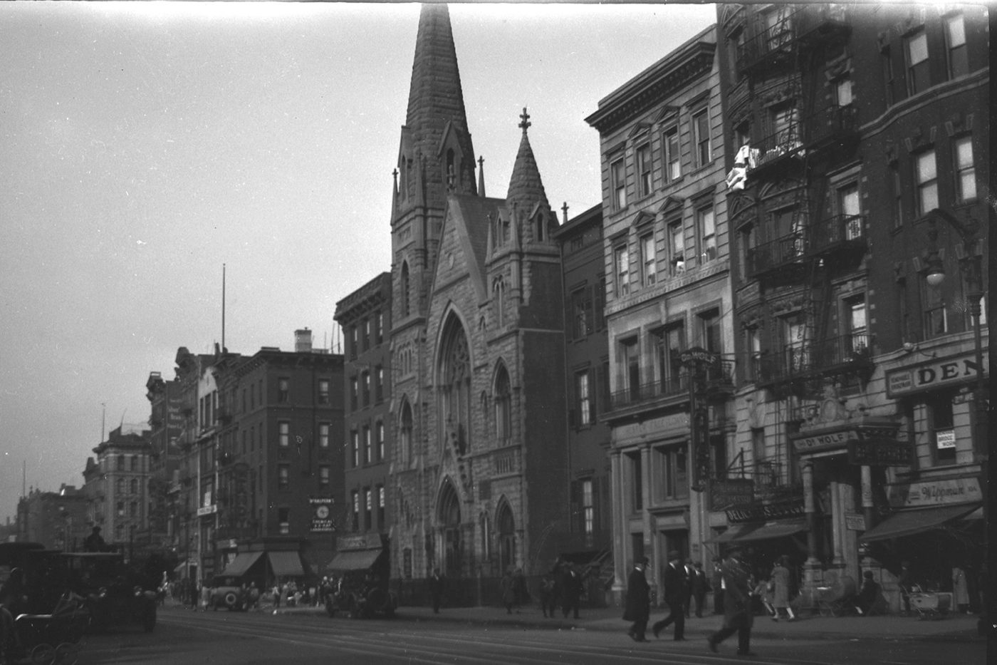 Middle Collegiate Church on Second Avenue ca 1920