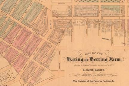 Screenshot: Map of Haring or Herring Farm, Surveyed 1784