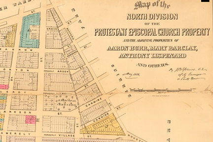 Screenshot: Map of North Division, Protestant Episcopal Church Property, 1881