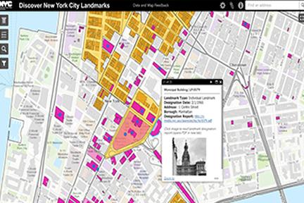 Screenshot: NYC Landmarks Preservation Commission landmarks map