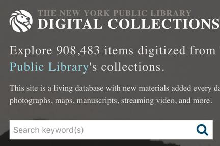 Screenshot: NYPL Digital Collections