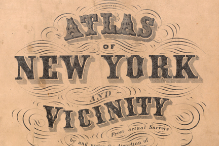 Title page section for 1860s NYC Atlas via New York Public Library collection