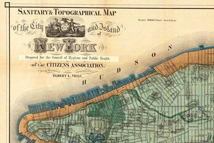 Screenshot: Viele map of Manhattan 1865