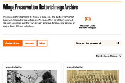 Village Preservation Historic Image Archive Screenshot