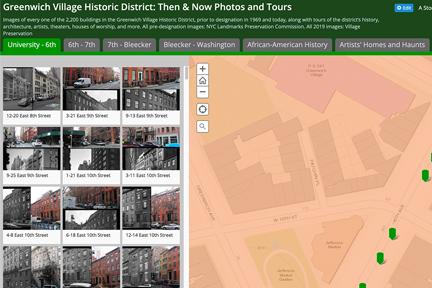 Screenshot: Village Preservation's Greenwich Village Historic District Tours