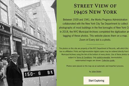 Street View of 1940s New York screenshot