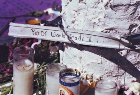 Marjorie Zien - 911 piece of WTC 2 at Union Sq memorial