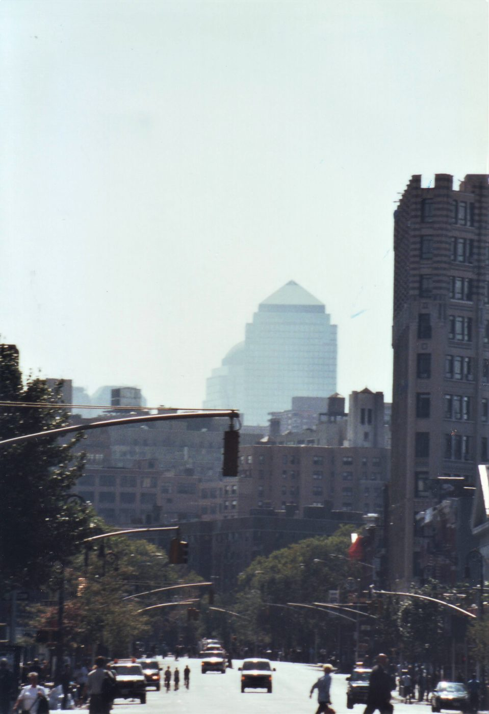 Marjorie Zien - 911 twin towers no longer visible looking south on (I think) 6th av)
