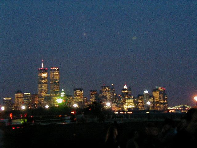NYC Skyline, August 2001