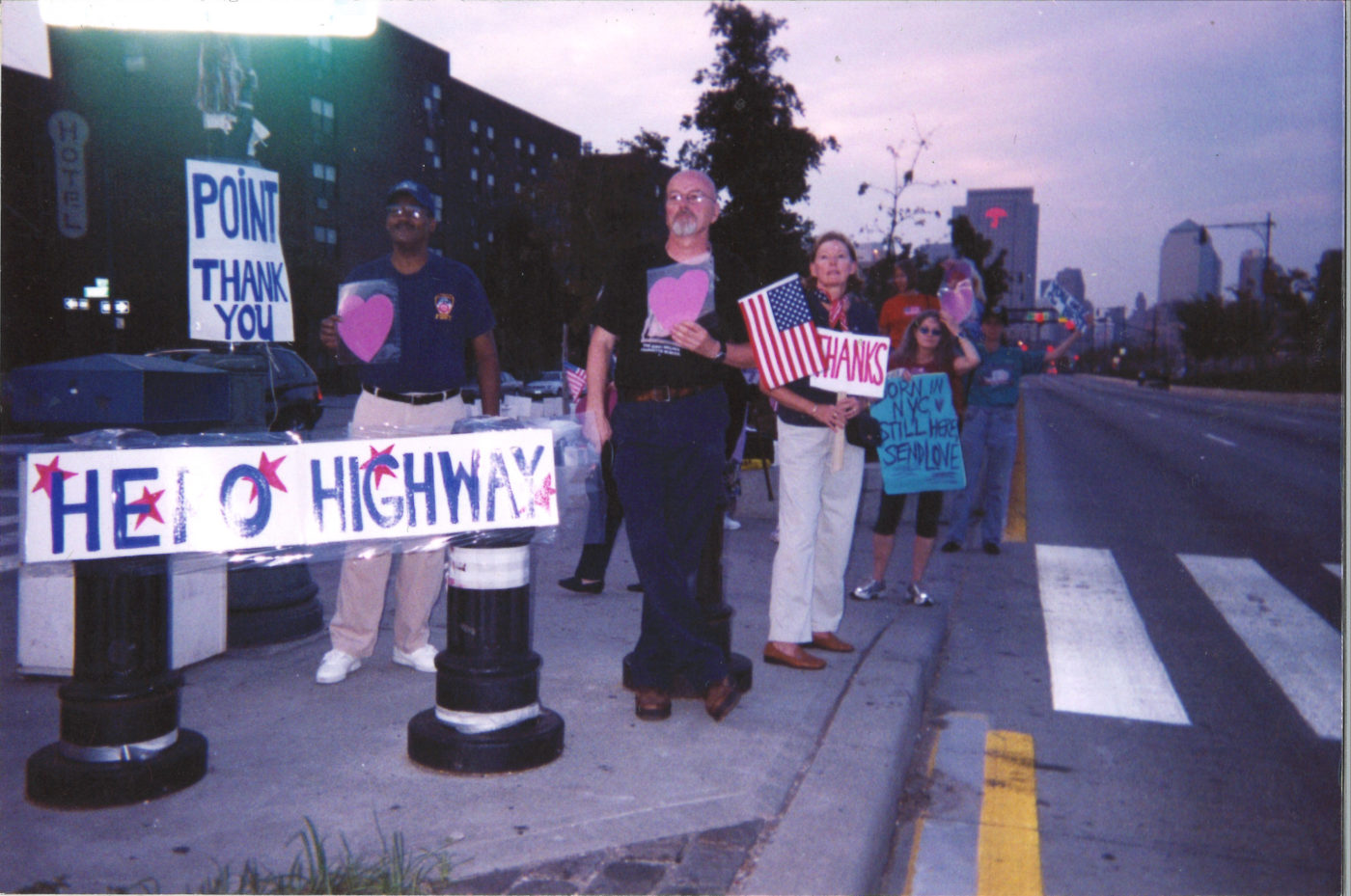 Lenore Mills- First Anniversary Dawn Waiting for the Bagpipe Parade September 11, 2002