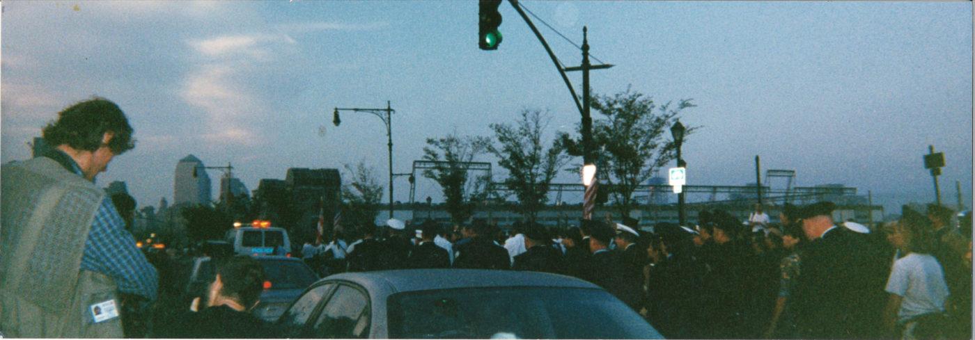 Lenore Mills- Dawn 1st Anniversary Parade to Ground Zero, September 11, 2002