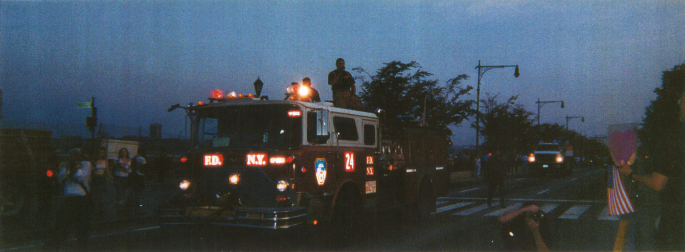 Lenore Mills- Dawn Parade of Rescue Workers to Ground Zero, September 11, 2002