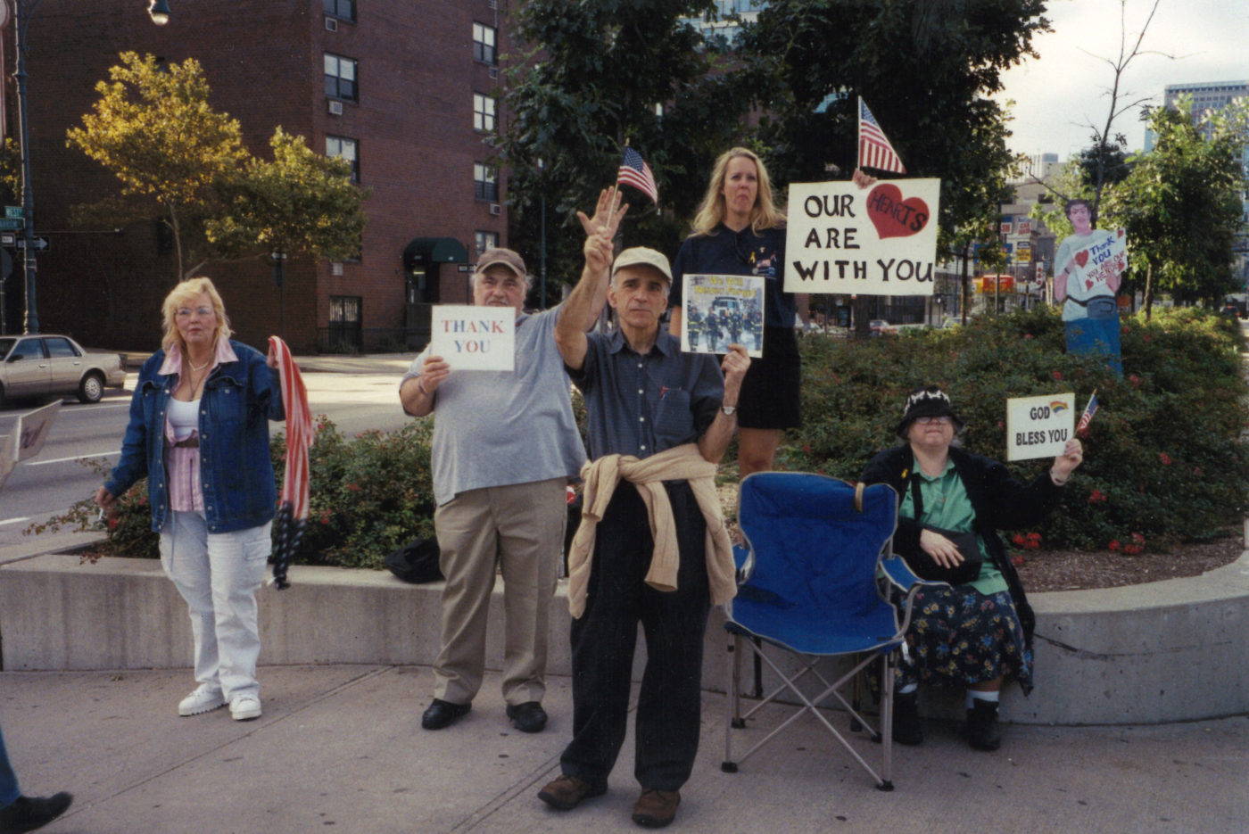 Lenore Mills- Thank You Signs, September 11, 2004