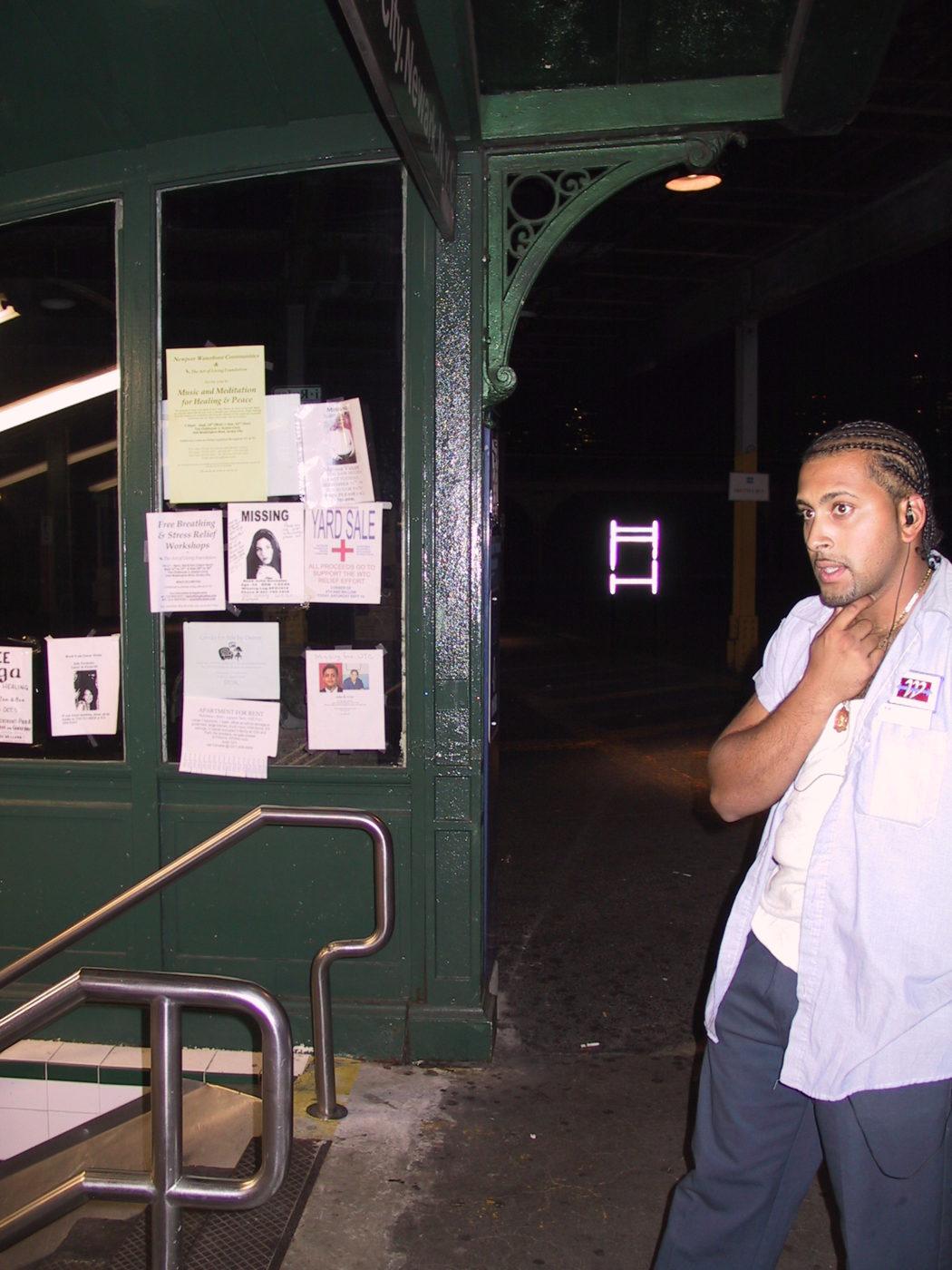 Charles Kramer- Hoboken PATH Entrance, Missing People Posters, September 23, 2001